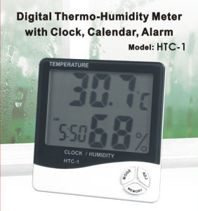 Digital Thermo-humidty Meter with Clock, Calendar & Alarm (HTC-1) pictures & photos