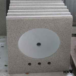 Kkr High Quality Custom Made White Artificial Stone Vanity Tops pictures & photos