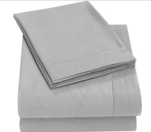 Brushed Microfiber Bed Sheet Set 4-Piece with Deep Pockets (DPF1071407) pictures & photos