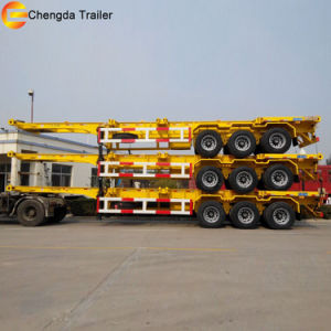 40FT Skeleton Chassis Flatbed Container Semi Trailer pictures & photos