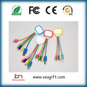LED Charger&Transfer Flat Micro USB Cable Colorful Network Cable pictures & photos