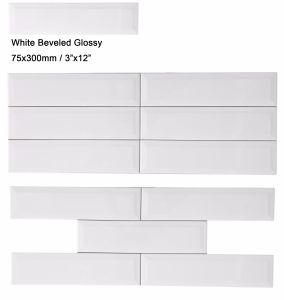 "3""X12"" White Glossy Ceramic Subway Tile for Kitchen Wall Backsplash pictures & photos"