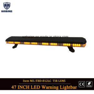 Newest Super Slim LED Warning Light Bar in Amber LEDs and Tir Lens pictures & photos