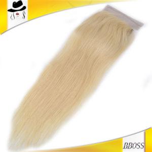 Golden Brazilian Lace Top Closure Hair Piece pictures & photos