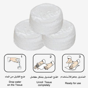 Magic Tissue, Compressed Wet Wipes, Compress Coin Tissue pictures & photos