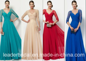 3/4 Sleeves Mother of The Bridal Dress Chiffon Lace Prom Evening Dress M27134 pictures & photos