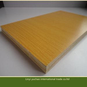 Wooden Grain Mlelamine Plywood for Kitchen Cabinet pictures & photos