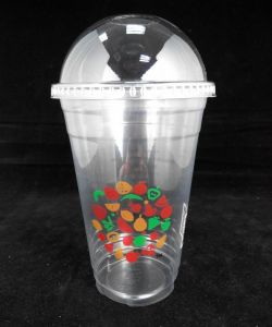 Disposable PP Cup with Dome Lid