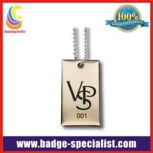Custom Metal Dog Tag Necklace (HS-DT012)