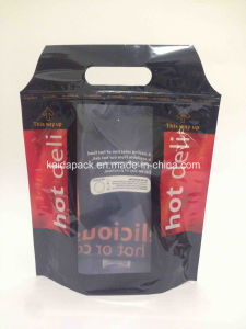 Stand up Handle Zipper Packaging Bag for Roast Chicken pictures & photos