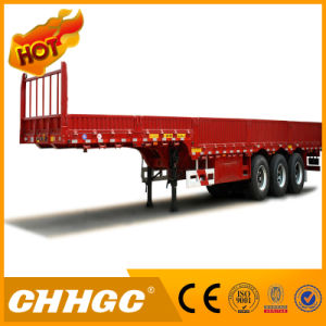 3axle Cargo/Fence Semi-Trailer with Side Wall pictures & photos