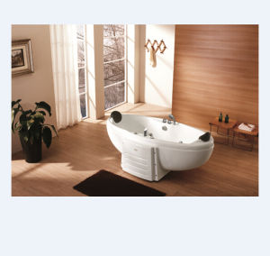 Elliptic Design Couple Whirlpool Massage Bathtub (M-2003) pictures & photos