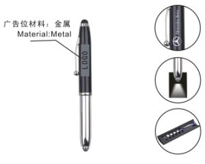 Multifunctional Metal Pen with Light pictures & photos