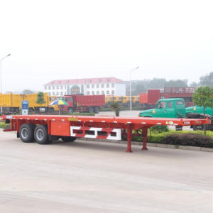 2axle Flatbed Semi Trailer with Air Suspension pictures & photos