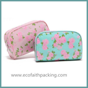 Full Printing Floral Polyester Cosmetic Bag