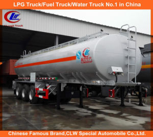 Heavy Duty Tri-Axle Carbon Steel Fuel Oil Tank Trailer pictures & photos