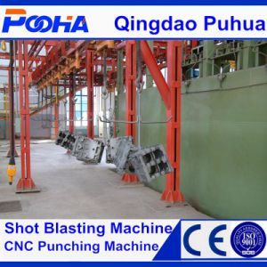 CE Quality Pass Through Hook Type Shot Blast Cleaning Machine pictures & photos