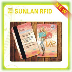 Vertical PVC Magnetic Stripe Card with Laser Mark pictures & photos