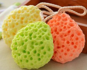 Colorful Long Strip Mesh Bath Puff pictures & photos
