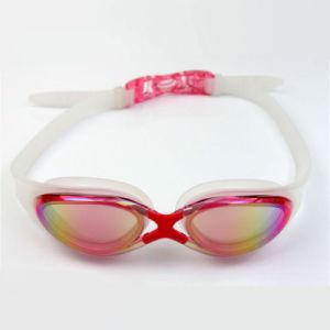 Fashion Colorful Silicone Rubber Swim Glasses with RoHS Certify pictures & photos