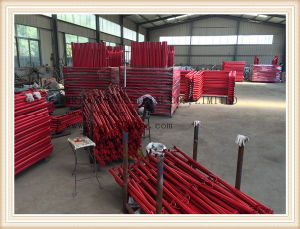 Powder Coated Scaffolding Guard Rail Post pictures & photos