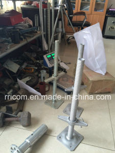 Galvanized Steel Adjustable Scaffolding Screw Jack / Post Jack Base pictures & photos