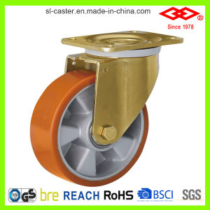 250mm Swivel Locking PU Caster (P160-76F250X50S) pictures & photos