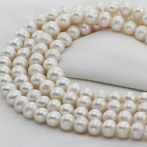 12mm Huge Large Size Natural Freshwater Ivory Pearl String pictures & photos