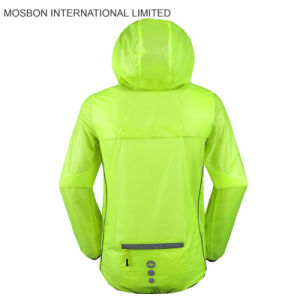 Fluorescent Cycling Rain Jacket/Fodable Jacket pictures & photos