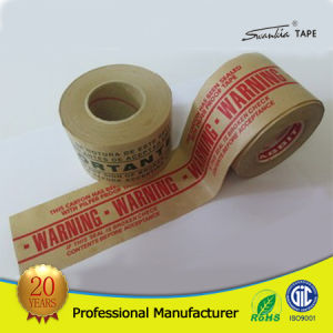 Customized Logo Self Adhesive Kraft Paper Tape for Packing pictures & photos
