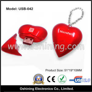 Heart Shape USB 2g, 4G, 8g (USB-042)