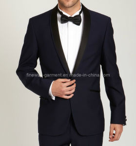 Navy Slim Fit Shawl Dinner Suit