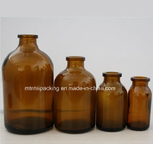 Amber Moulded Glass Bottle for Pharmaceutical Packing pictures & photos