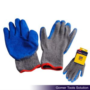 10 Gauge Knitted Latex Coated Work Glove pictures & photos
