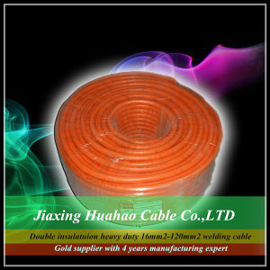 Double PVC Insulation Copper Conductor 16mm2 25mm2 35mm2 50mm2 70mm2 95mm2 120mm2 Welding Cable pictures & photos