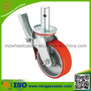Scaffolding Caster with Total Brake W/PU Wheels pictures & photos