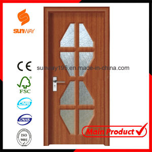 New Design of PVC Wood Door with Windows pictures & photos