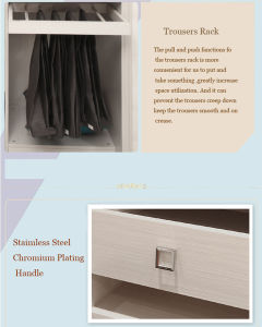 American Style Wardrobe Walk-in Closet Cupboard (zy-042) pictures & photos