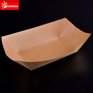 Disposable Paper Big Kraft Tray for Food pictures & photos