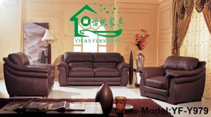 America Style Leather Sofa/ Modern Leather Sofa/ Sofa Bed (YF-Y979)