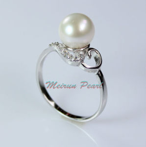 Sterling Silver Freshwater Pearl Ring (ER1602) pictures & photos