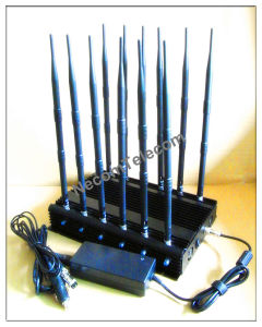 GSM900/1800+3G+2.4G+4G+GPS+Lojack+Camera Stationary Adjustable Model 12bands Jammer pictures & photos