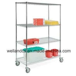 NSF Adjustable Metal Display Metal Rack Metal Shelf pictures & photos