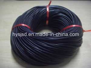 High Quality Black Round Navy Leather Cord pictures & photos