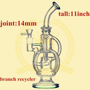 Two Fuction Recylcer Smoking Glass Water Pipe pictures & photos