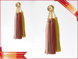 Tassel Keychain Leather Tassel Gift Keychain Decoration Keychain pictures & photos