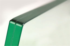 Edge Polished Round Corner Laminated Glass pictures & photos