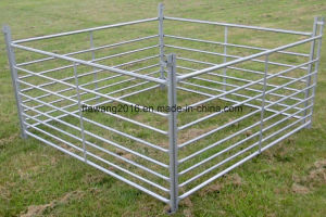 Galvanized Sheep Fencing Panel Corral Fence Panel with Half Mesh pictures & photos