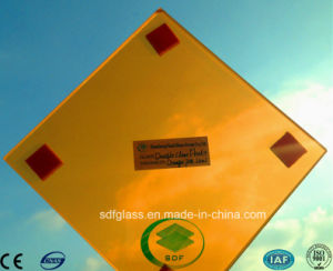 Orange PVB Laminated Glass with Ce, ISO