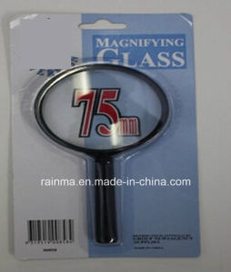 75mm Cheap Magnifying Glass with Plastic Handle Magnifier pictures & photos